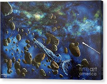 Accidental Asteroid Canvas Print by Murphy Elliott