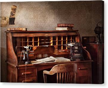 Accountant - Accounting Firm Canvas Print by Mike Savad