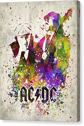 Acdc In Color Canvas Print by Aged Pixel