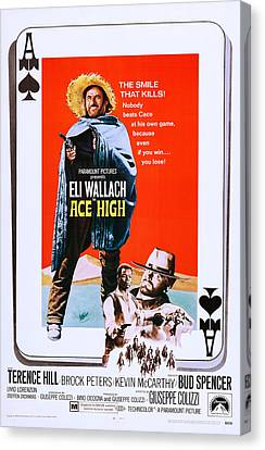 Ace High, Us Poster Art, From Left Eli Canvas Print by Everett
