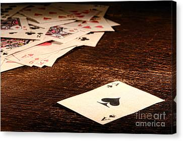 Ace Of Spade Canvas Print by Olivier Le Queinec