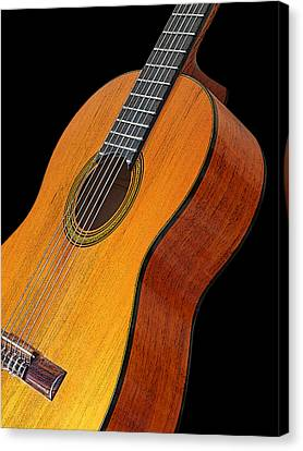 Acoustic Guitar Canvas Print by Gill Billington