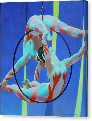 Acrobats Canvas Print by Kevin Lawrence Leveque