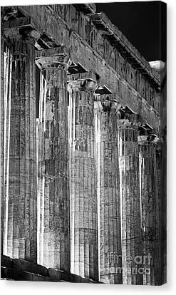 Acropolis Columns Canvas Print by John Rizzuto