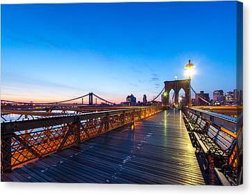 Across The Bridge Canvas Print by Daniel Chen