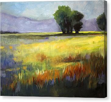 Across The Field Canvas Print by Nancy Merkle