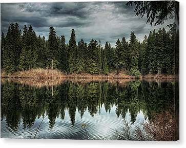 Across The Lake Canvas Print by Belinda Greb