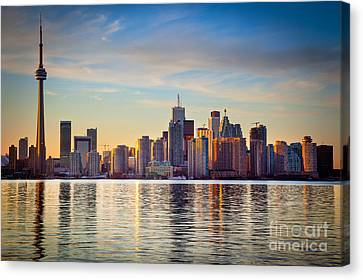 Across The Water Canvas Print by Inge Johnsson