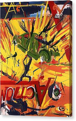 Action Abstraction No. 1 Canvas Print by David Leblanc