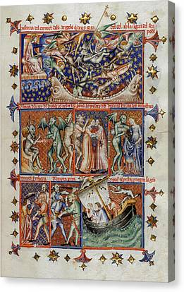 Actions Of Devils Canvas Print by British Library