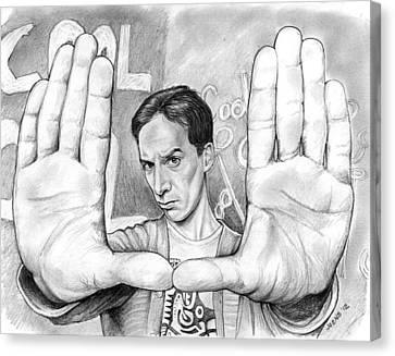 Actor Danny Pudi Canvas Print by Greg Joens