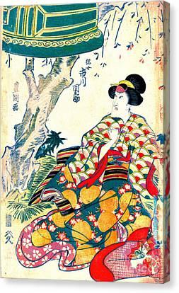 Actor Ichikawa Dannosuke 1809 Canvas Print by Padre Art