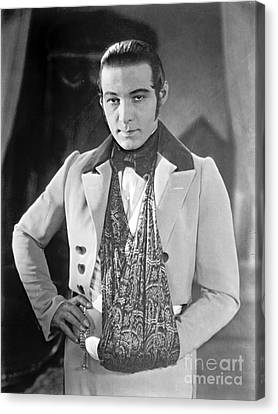 Actor Rudolph Valentino 1925 Canvas Print by Padre Art
