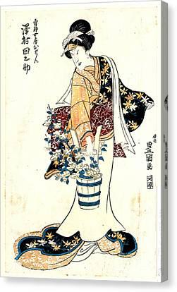 Actor Sawamura Tanosuke 1810 Canvas Print by Padre Art