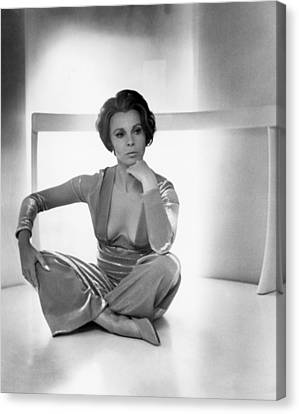 Actress Claire Bloom Canvas Print by Underwood Archives