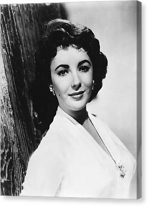 Actress Elizabeth Taylor Canvas Print by Underwood Archives