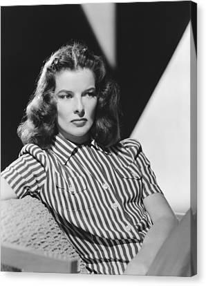 Actress Katharine Hepburn Canvas Print by Underwood Archives
