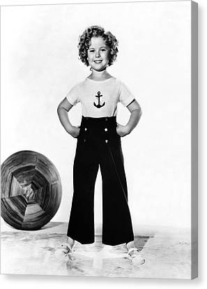 Actress Shirley Temple Canvas Print by Underwood Archives