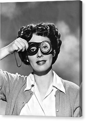 Actress With Smogoggles Canvas Print by Bert Six