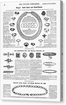 Ad Jewelry, 1890 Canvas Print by Granger
