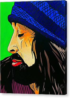 Adam Duritz Counting Crows Canvas Print by Edward Pebworth