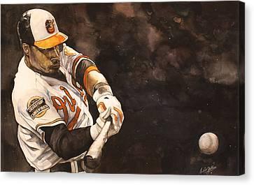 Adam Jones Canvas Print by Michael  Pattison