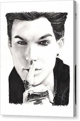 Adam Lambert Canvas Print by Rosalinda Markle