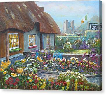 Adare Gardens Co Limerick Canvas Print by Tomas OMaoldomhnaigh