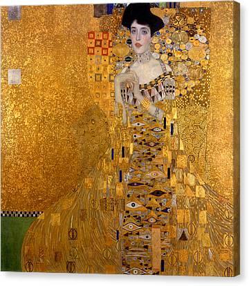 Adele Bloch Bauers Portrait Canvas Print by Gustive Klimt