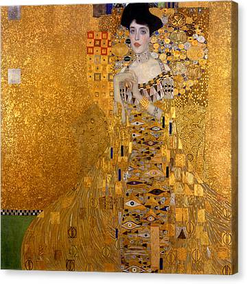 Adele Bloch Bauers Portrait Canvas Print by Gustive Klimt
