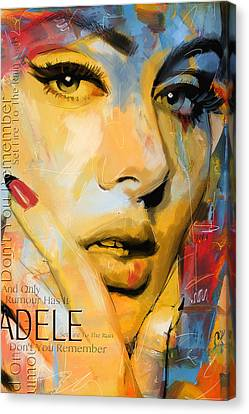 Adele Canvas Print by Corporate Art Task Force
