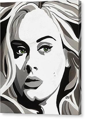 Adele Canvas Print by Jesse Glenn