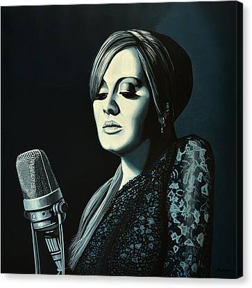 Adele Skyfall Painting Canvas Print by Paul Meijering