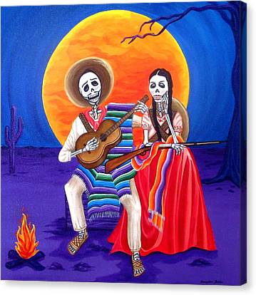 Adelita Canvas Print by Evangelina Portillo