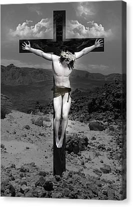 Jesus Christ Intact Canvas Print by Quim Abella