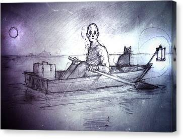Adift Canvas Print by H James Hoff