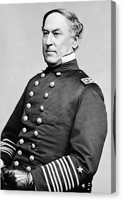 Admiral David Farragut Canvas Print by War Is Hell Store
