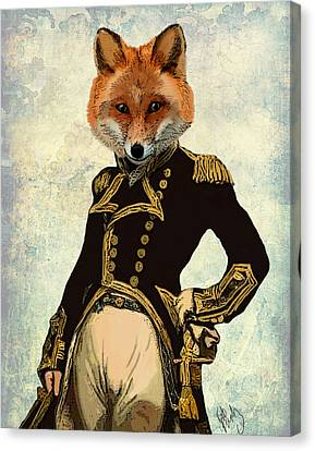 Admiral Fox Full Canvas Print by Kelly McLaughlan