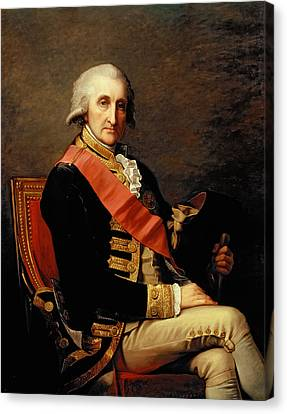 Admiral George Brydges Rodney Canvas Print by Jean Laurent Mosnier