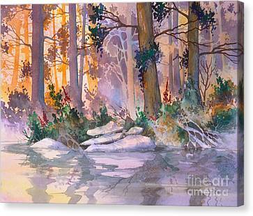 Admiralty Forest For Fran Canvas Print by Teresa Ascone