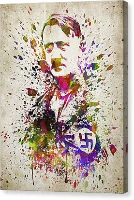 Adolf Hitler In Color Canvas Print by Aged Pixel