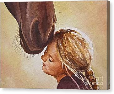 Adoration Canvas Print by Andrea Timm