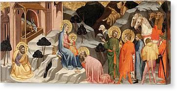 Adoration Of The Magi Canvas Print by Cenni di Francesco
