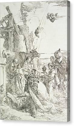Adoration Of The Magi Canvas Print by Giovanni Battista Tiepolo