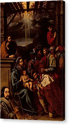 Adoration Of The Magi Canvas Print by Unknown