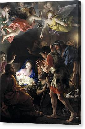Adoration Of The Shepherds Canvas Print by Anton Raphael Mengs