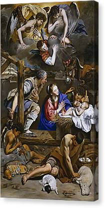 Adoration Of The Shepherds Canvas Print by Juan Bautista Maino