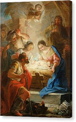 Adoration Of The Shepherds Canvas Print by Mariano Salvador de Maella