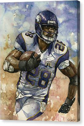 Adrian Peterson Canvas Print by Michael  Pattison