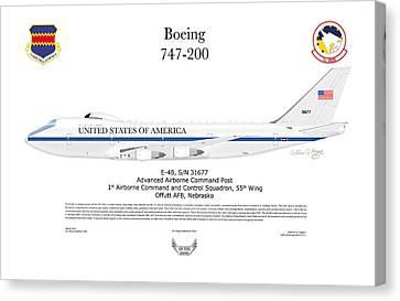 Advanced Airborne Command Post Canvas Print by Arthur Eggers